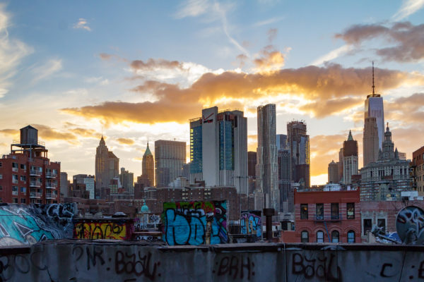 Graffiti Covered Buildings of New York City