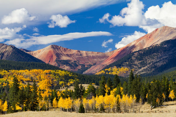 Panoramic Fall Landscape Colorado Rocky Mountains